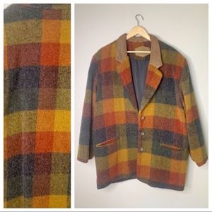 Woolrich Vintage Wool Autumn Button Coat Large